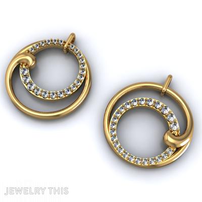 Double Hoop Earring, Earrings, Double Hoop