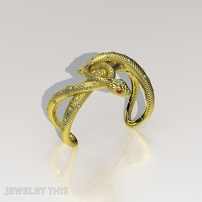 3D Jewelry Design Snake Bracelet Jewelrythis