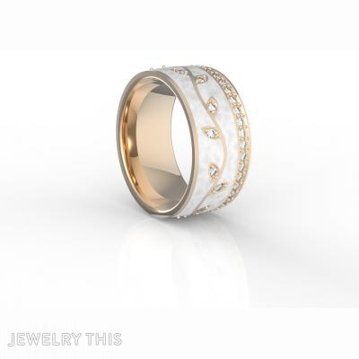 Ring With Enamel And Gems, Rings, Fashion