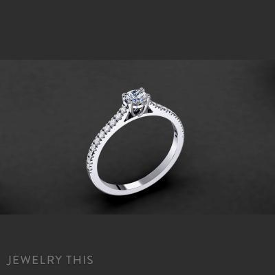 Engagement Ring Model 004, Rings, Engagement