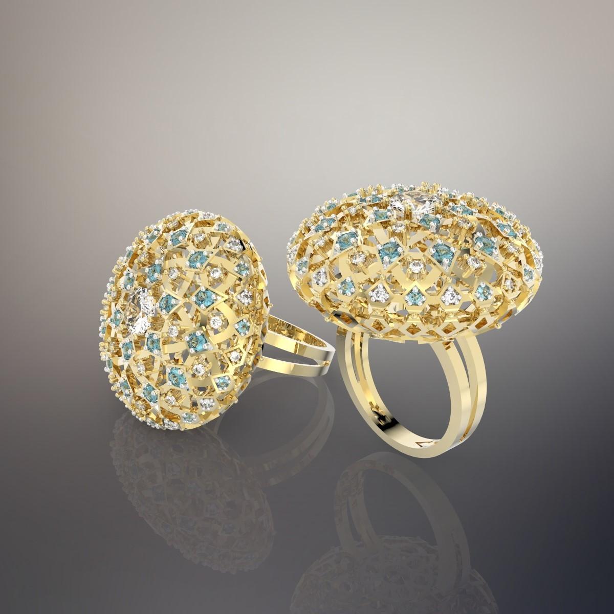 Custom Jewelry Design: Pendant Universe Andromeda