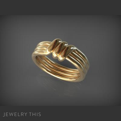 Ring Strong Knot, Rings, Fashion