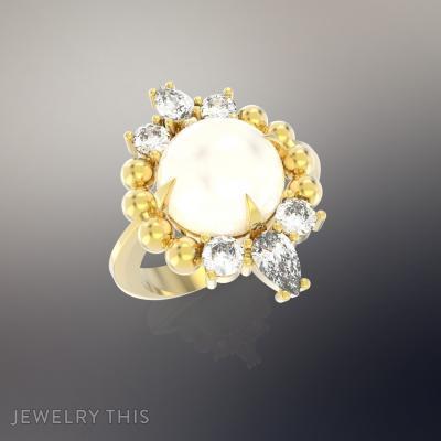 Ring Flowers, Rings, Fashion