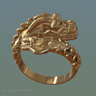 Dragon, Rings, Fashion