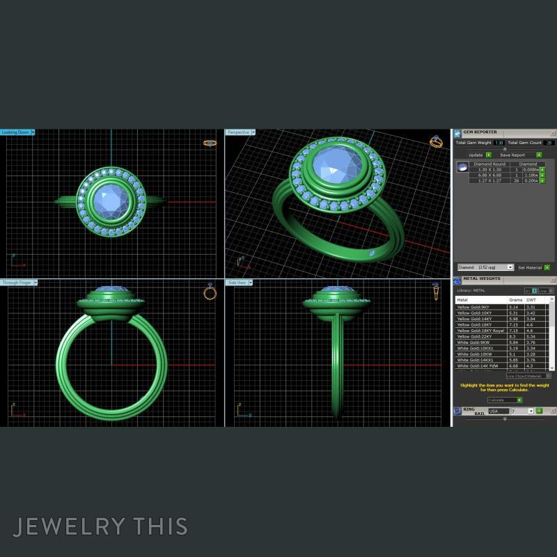 Rs-233, Rings, Engagement, image 2