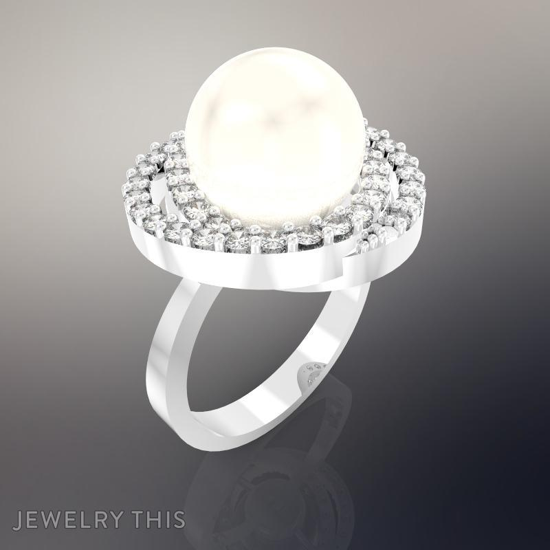 item luxury genuine pearls in from rings accessories women for party freshwater ring lace unique engagement sterling bands natural silver gift jewelry edi