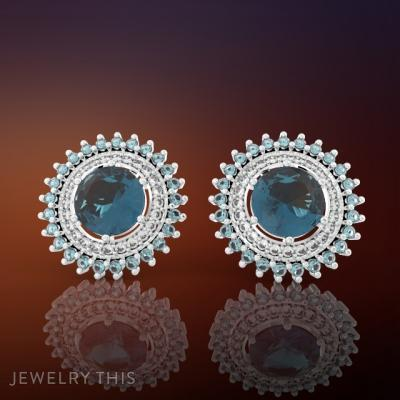 Earring Round Classic, Earrings, Stud (Post)