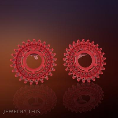 3D Jewelry Design: Earring Round Classic » Jewelrythis ~ Jewelry