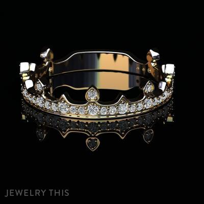 Royal Crown, Rings, Fashion