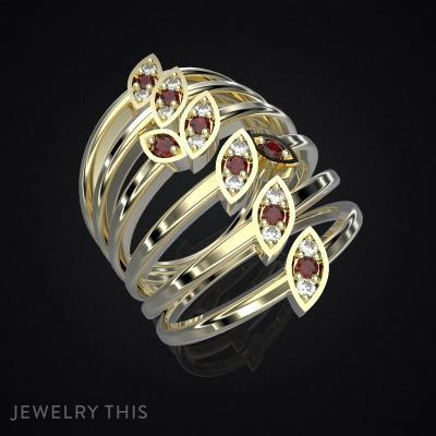 Ring Delicate Leaves – 2, Rings, Fashion