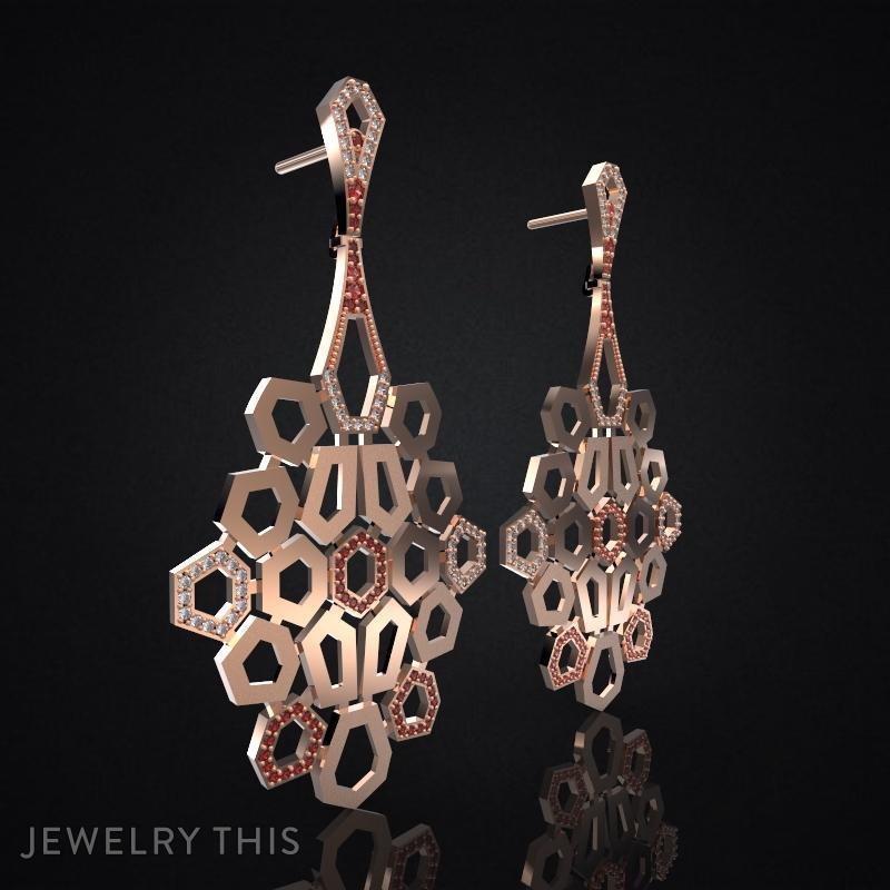 3d Jewelry Design Earrings Hephaestus 187 Jewelrythis