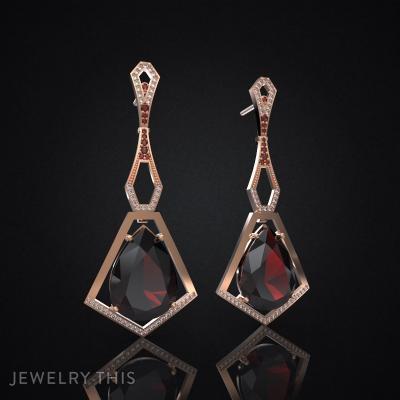Earrings Hephaestus 2, Earrings, Chandelier (Dangle)