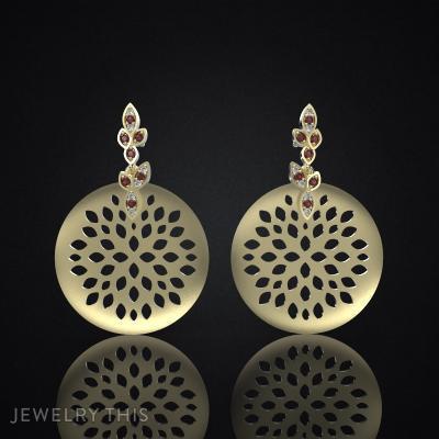 Earrings Delicate Leaves 4, Earrings, Chandelier (Dangle)