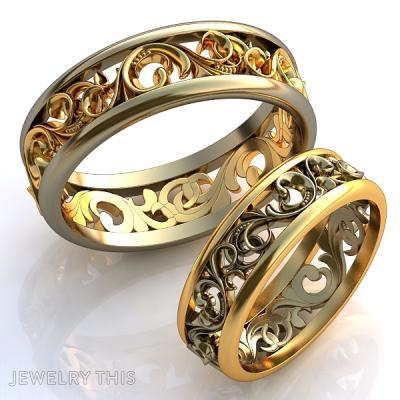 Floral Round Clean Ring, Rings, Wedding