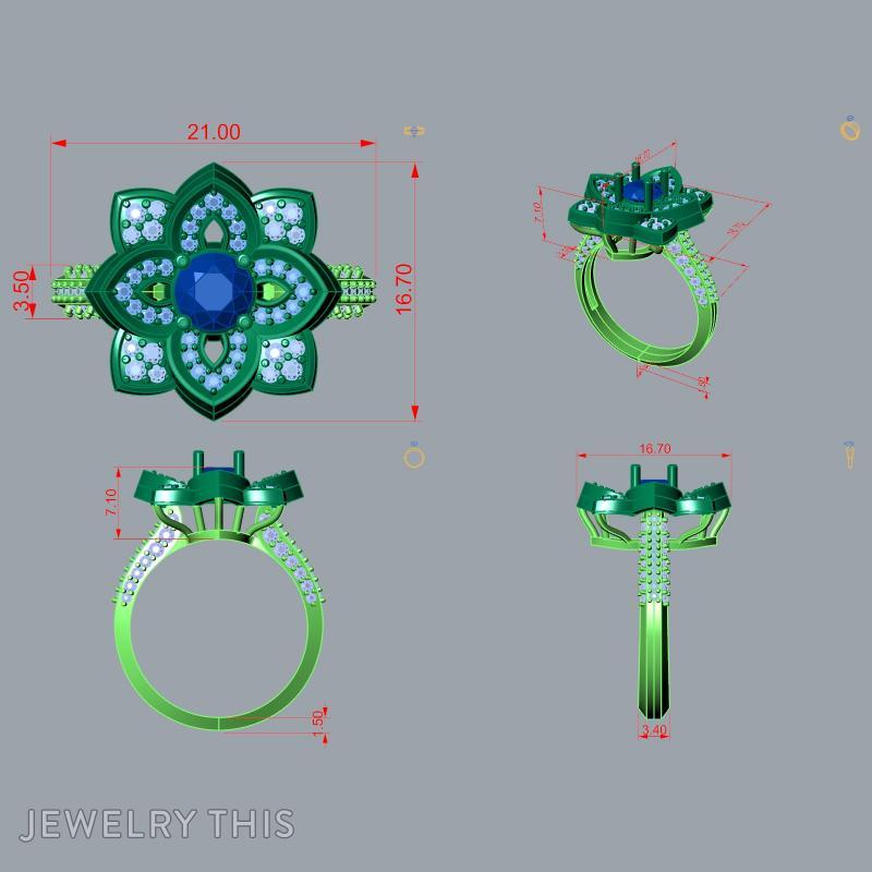 3D Jewelry Design: 3D Stl File