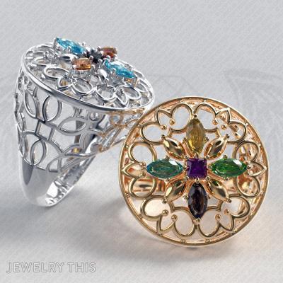 4 Ringsizes 3D Stl File – Ring, Rings, Cocktail