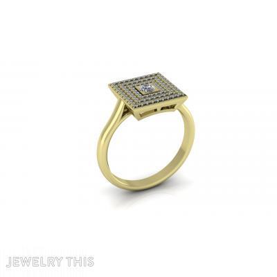 Diamonds Gold Engagement Ring, Rings, Engagement