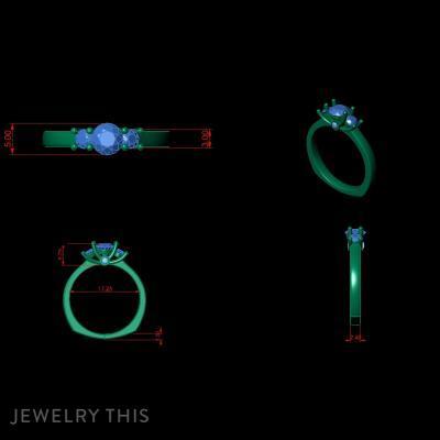 Free Diamonds Engagement Ring
