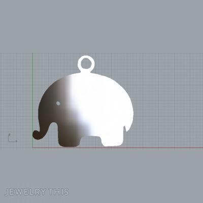 Pendant Elephant Simple, Pendants, General
