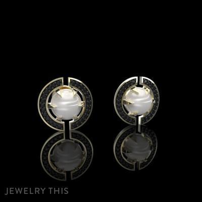 Earrings Vihad Pearls, Earrings, Stud (Post)