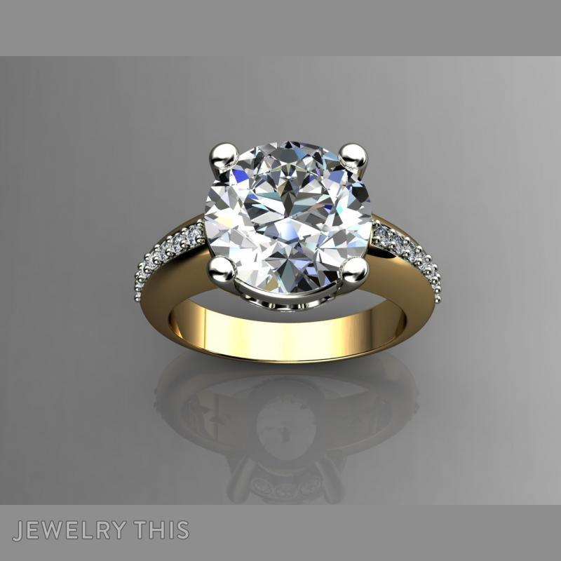 5 Carat Diamond Engagement Rin, Rings, Fashion, image 2
