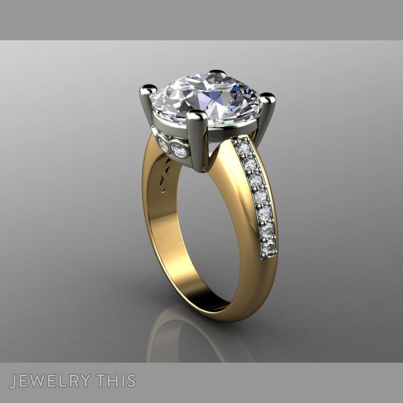 5 Carat Diamond Engagement Rin, Rings, Fashion, image 3