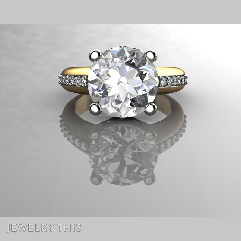 5 Carat Diamond Engagement Rin, Rings, Fashion, image 4