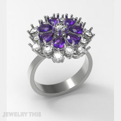 Ring Flouwer, Rings, Fashion