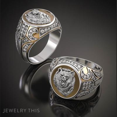 Ring With Bearish Grin, Rings, Signet