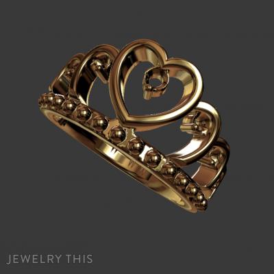 Crown Ring, Rings, Promise