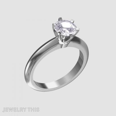 Solitaire Engagement Ring, Rings, Engagement