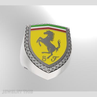 Ferrari Logo Ring, Rings, Signet