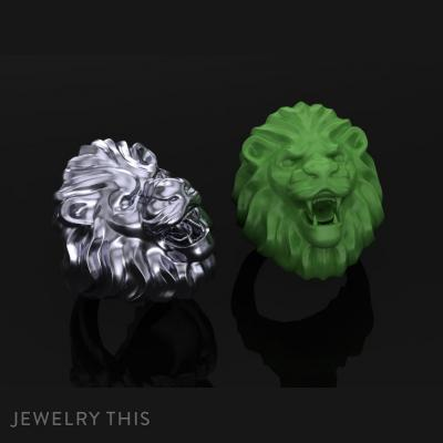 Lion Ring, Rings, Cocktail