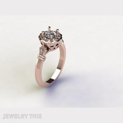 4 Claw Solitaire, Rings, Engagement
