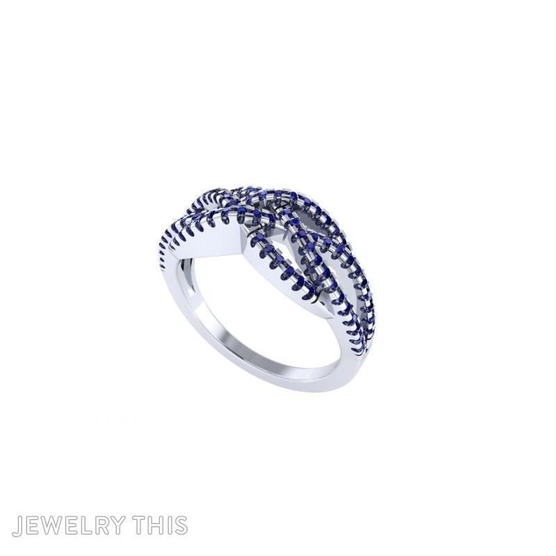 3D Jewelry Design: French Setting Crossover Ring » Jewelrythis