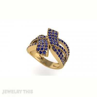 Overlapping Pave Ring, Rings, Wedding