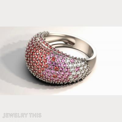 Pave Ring, Rings, Wedding