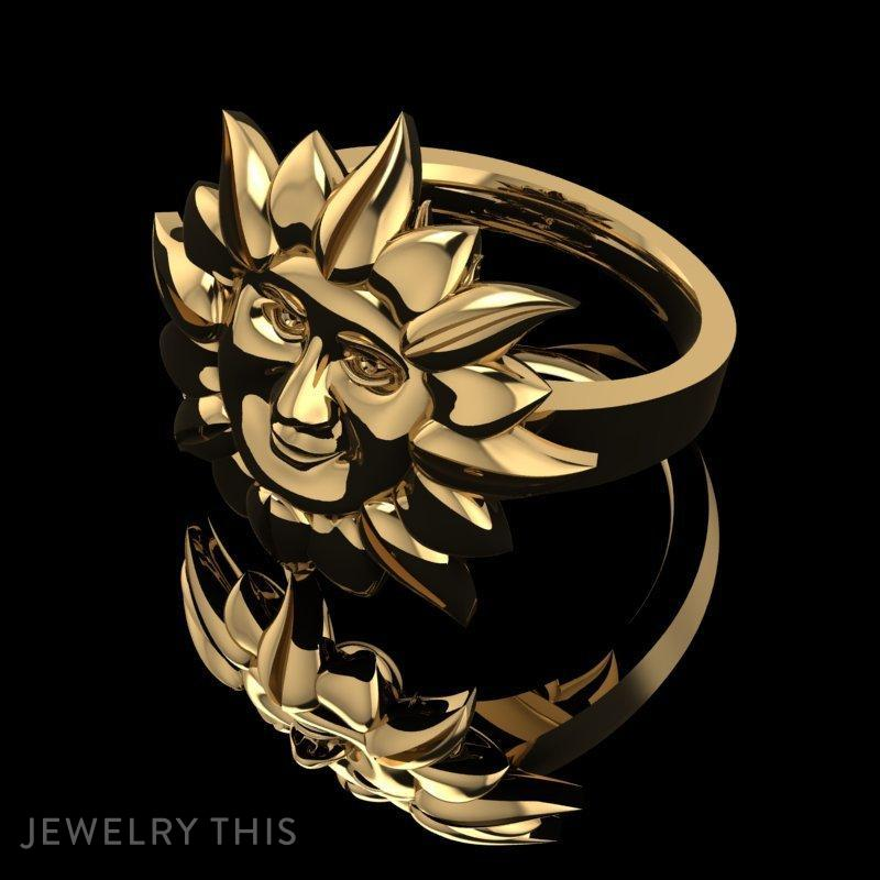 3D Jewelry Design: Smiley Sun Ring » Jewelrythis ~ Jewelry