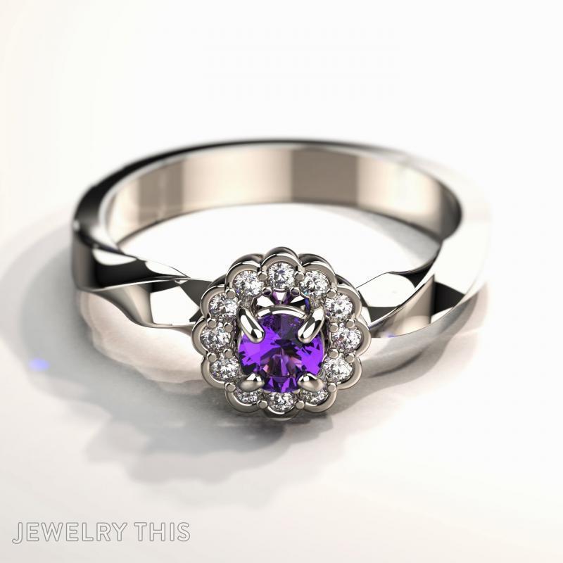 Flower Ring, Rings, Engagement