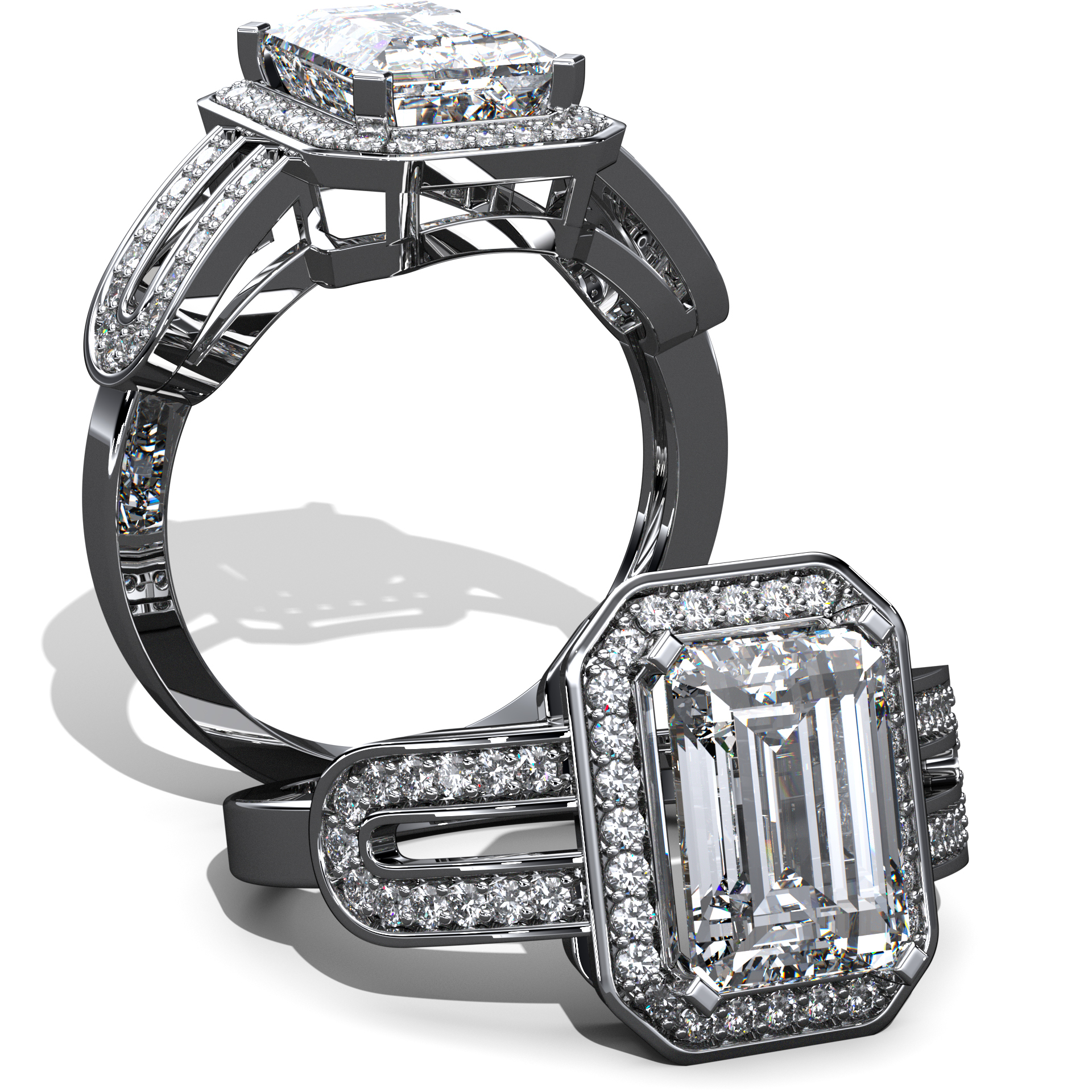3D Jewelry Design: Emerald Cut Ring » Jewelrythis