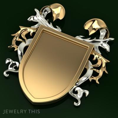 Heraldry Shield Blank, Charms