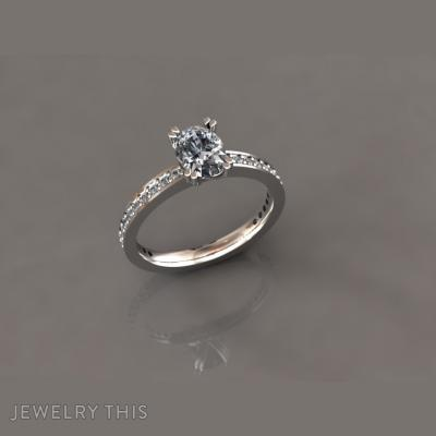 The Engagement Ring Oval Cut, Rings, Engagement