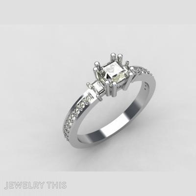 Cuby Wedding Ring, Rings, Engagement