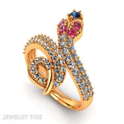 Snake, Rings, Fashion