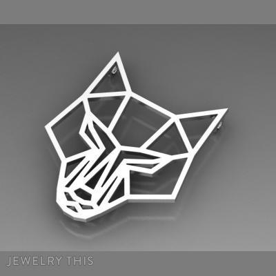 Fox Geometric Pendant, Necklaces