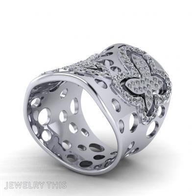 Butterfly, Rings, Fashion