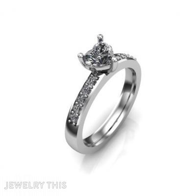 Heart Shaped Engagement Rings, Rings, Engagement