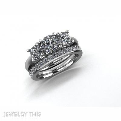 Half Pave Set Ring Size~L1-2, Rings, Eternity Band