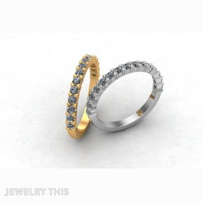 Eternity Ring With A Claw Set, Rings, Eternity Band