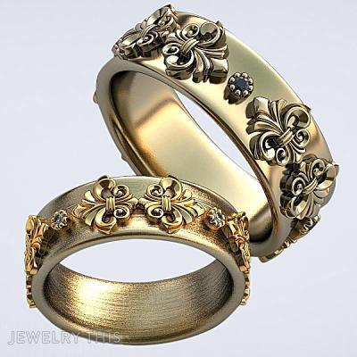Free 3D Model Wedding Rings, Rings, Wedding